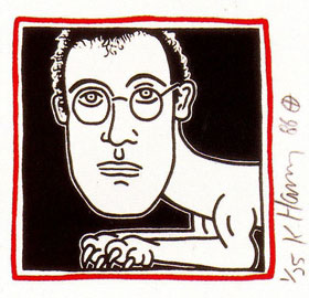keith_haring_autoritratto_cane